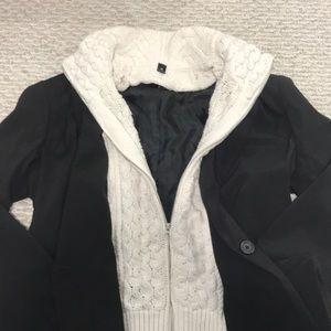 Aqua brand layered look blazer w removable sweater